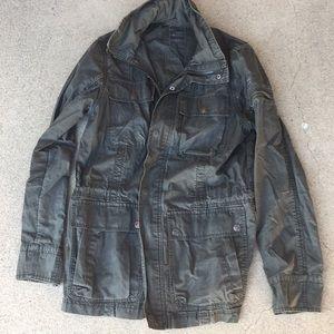 Men's Calvin Klein cargo jacket with hidden hood